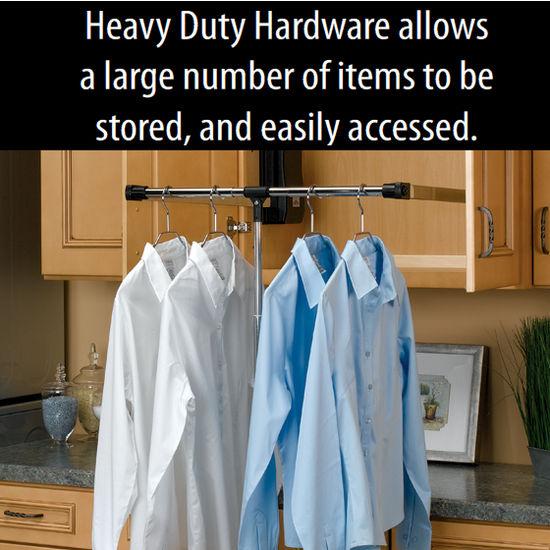 Rev A Shelf Pull Down Chrome Closet Rods Kitchensource Com