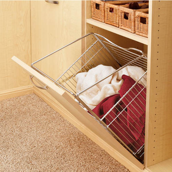 Rev-A-Shelf Tilt Out Wire Hamper Chrome Finish