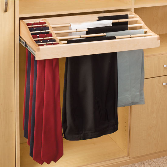 Rev A Shelf Wood Pant And Tie Rack Kitchensource Com