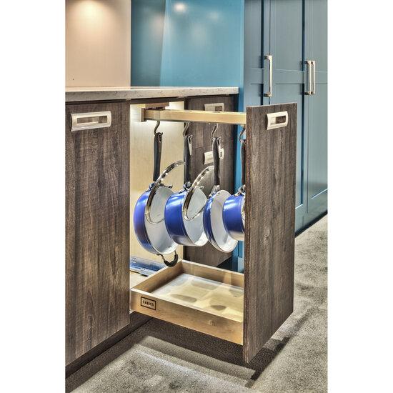 """Glideware"" Pull-Out Base Cabinet Organizer With Blum Tandem Blumotion Soft Close Slides by Rev-A-Shelf"
