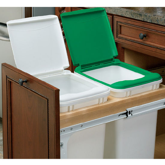 Rev A Shelf Double Pull Out Waste Bins For 15 And 18