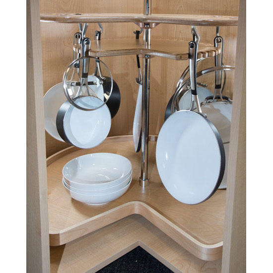 Glideware Not So Lazy Susan Kidney Tray Cookware Organizer By Rev A Shelf