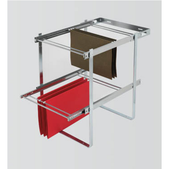 Two Tier Pull Out File Drawer System For Kitchen Or Desk