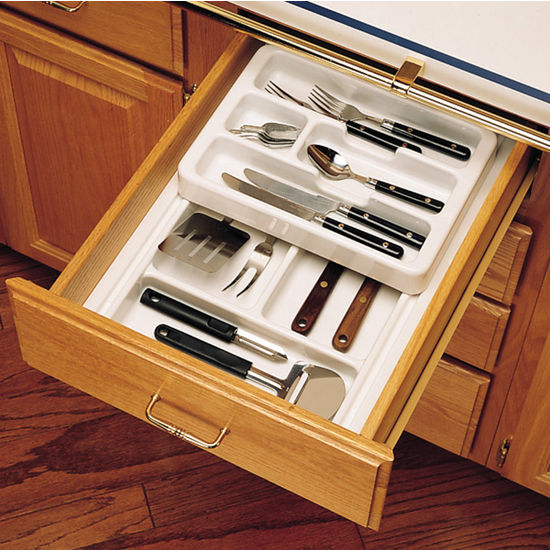 Storage Ideas For Deep Kitchen Drawers: Rev-A-Shelf 2-Tier Insert Cutlery