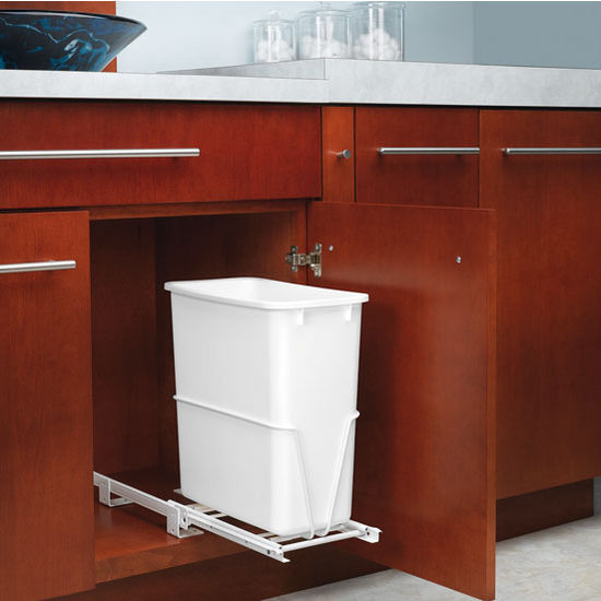 Dual Configuration 20 Qt Pullout Waste Container