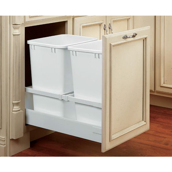 Rev A Shelf Double Waste Containers With Blum S Tandem