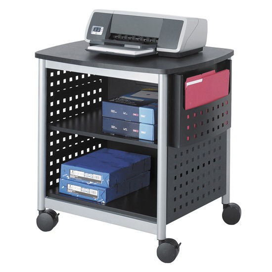 Office Furniture Scoot Desk Side Printer Stand By Safco
