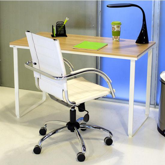 """Safco Table Desk, Beech & White, 47-1/4""""W x 24""""D x 28-3/4""""H"""