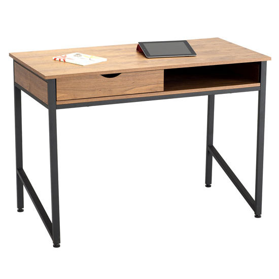 Safco Single Drawer Office Desk, Black