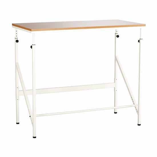 "Safco Elevate™ Standing-Height Desk, Beech, 48""W x 24""D x 38"" to 50""H"