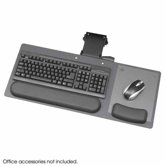 "Safco Ergo-Comfort® Articulating Keyboard/Mouse Support Arm, Black, 28""W x 11-3/4""D x 1/4""H"
