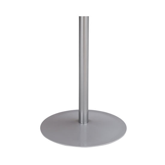 "Safco Entourage™ Table Base, 18""Dia. x 29""H, Silver"