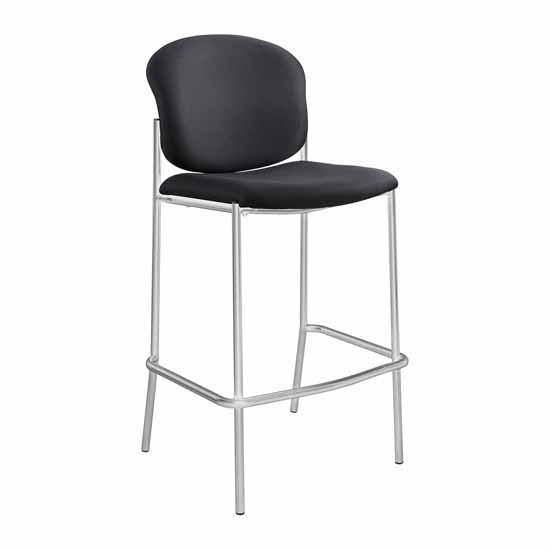 """Safco Diaz™ Bistro-Height Chair, Black, 19-1/2""""W x 18-1/2""""W x 44-1/2""""H"""