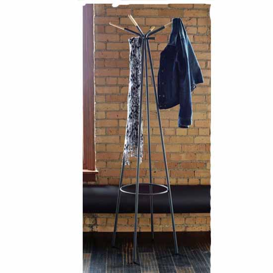 "Safco Family Coat Rack, Black, 16-1/2""W x 16-1/2""D x 72-3/4""H"