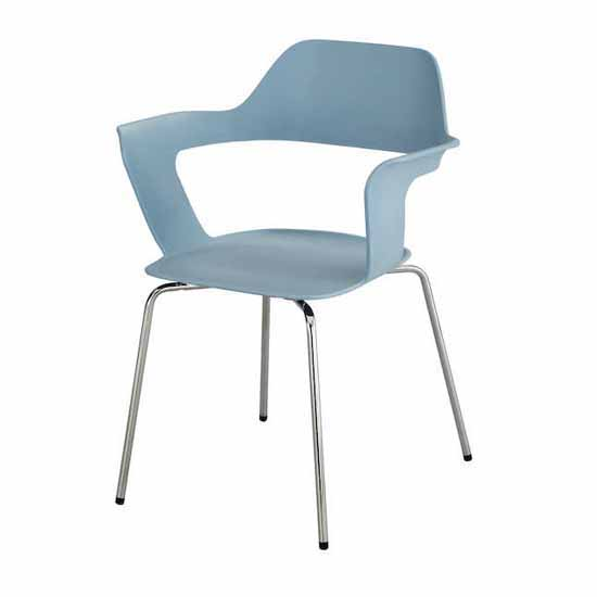 """Safco Bandi™ Shell Stack Chair, Blue, 23-3/4""""W x 19""""D x 31""""H - Set of 2 Chairs"""