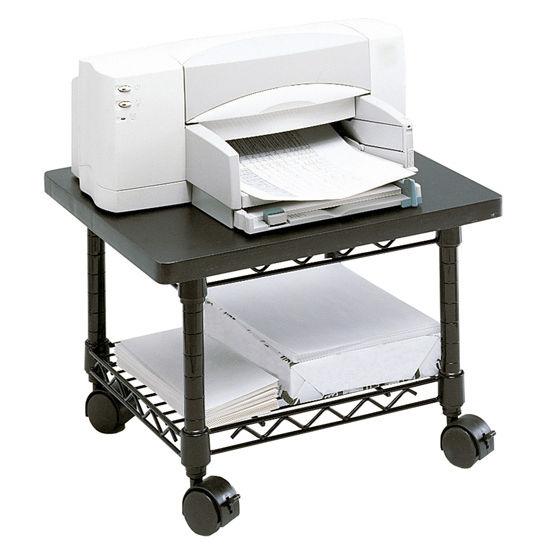 "Safco Underdesk Printer/Fax Stand, Black, 19""W x 16""D x 13-1/2""H"