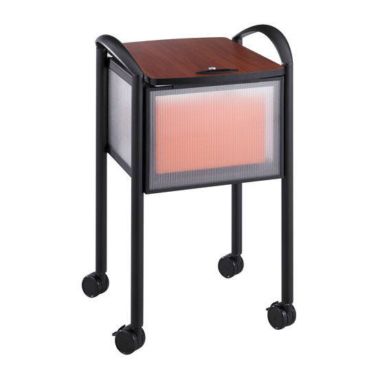 """Safco Impromptu® Mobile File Cart with Locking Top, Black, 20-1/4""""W x 21-1/2""""D x 30-3/4""""H"""