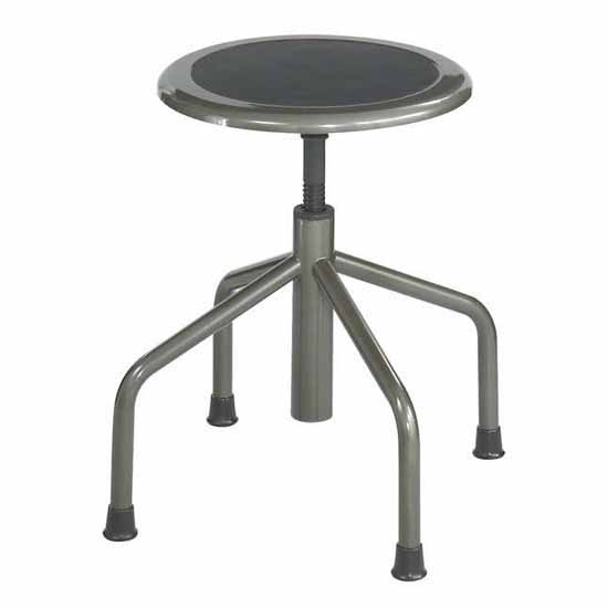 "Safco Diesel Low Base Industrial Stool without Back, Pewter, 15""W x 15""D x 16"" to 22""H"
