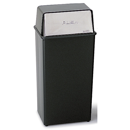 Safco® 36-Gallon Push Top Trash Can