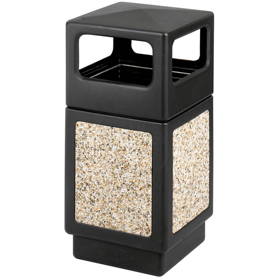 Safco® CanMeleon™ 38-Gallon Side Opening Outdoor Trash Can