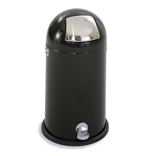 Safco® 9-Gallon Dome Step-On Trash Can