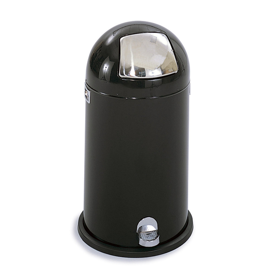 Safco® 12-Gallon Dome Step-On Trash Can
