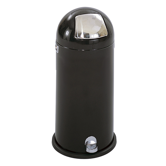 Safco� 15-Gallon Dome Step-On Trash Can