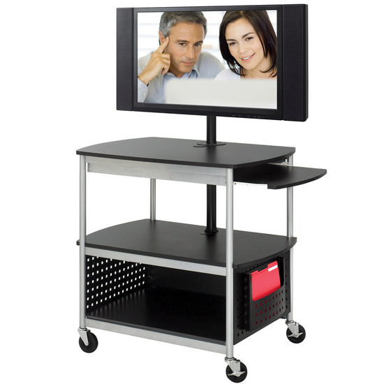 Safco Scoot Open Flat Panel Multimedia & AV Cart