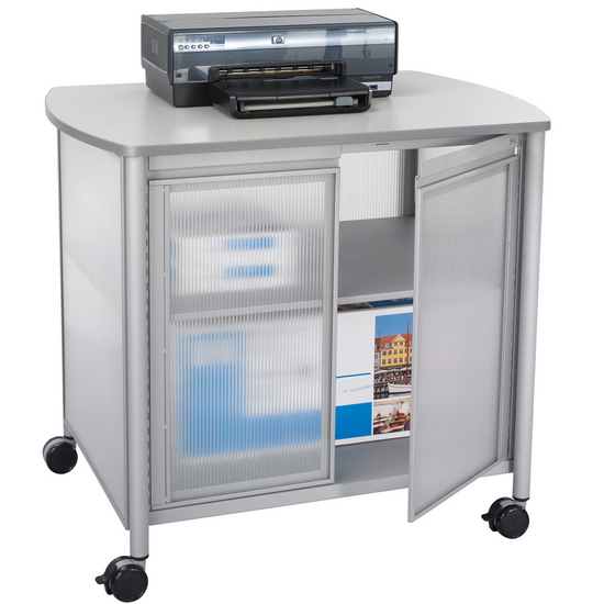 Safco Impromptu Deluxe Mobile Machine Stand with Doors