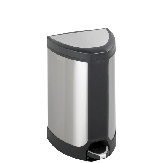 Safco Stainless 7 Gallon Step-On Receptacle