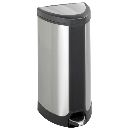 Safco Stainless 10 Gallon Step-On Receptacle