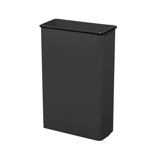 Safco ® Tall Rectangular Wastebasket, Powder Coated Black, 22 Gallon, Set of 3