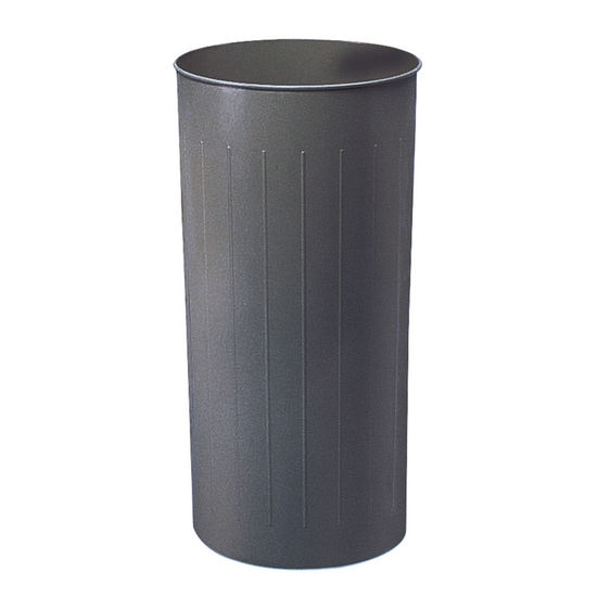 Safco � Tall Round Wastebasket, Powder Coated Charcoal, 20 Gallon, Set of 3