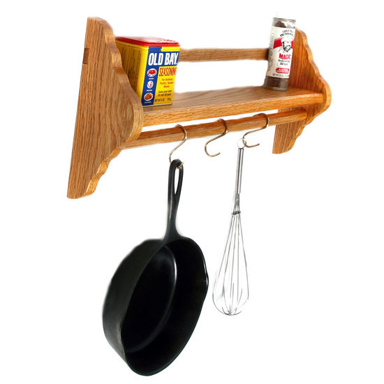 Saut� Pan Rack, Red Oak