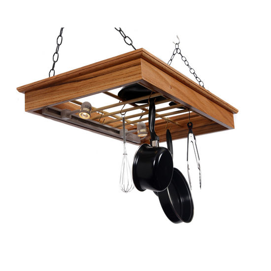 Halogen Lighted Pot n Pan Rack