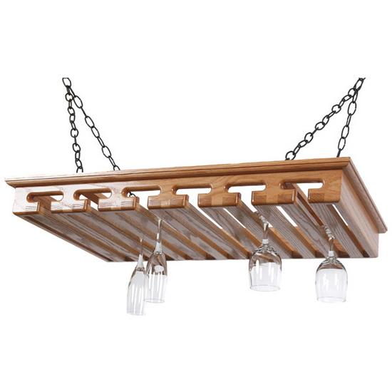 24+ Glass Hanging Stemware Rack