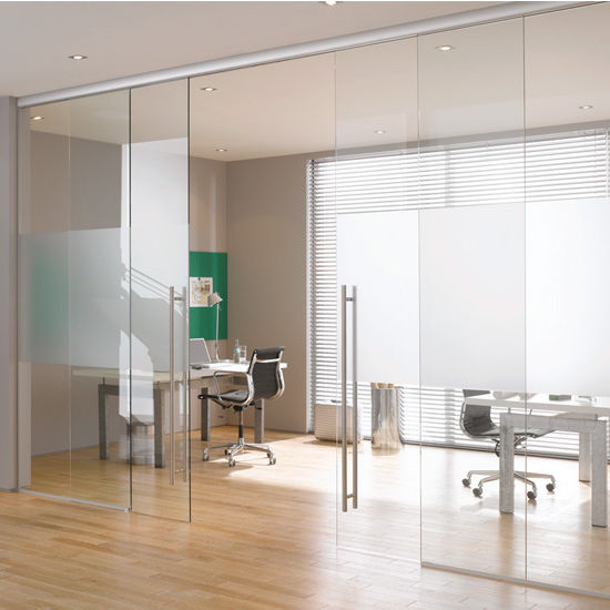Structure Glass Solutions Covert Series Soft Close Sliding Door System, Double  Door Hardware Kit,