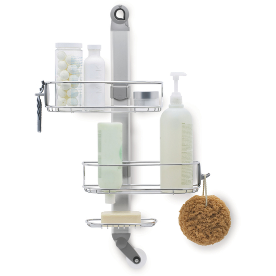 bathroom accessories adjustable shower caddy by. Black Bedroom Furniture Sets. Home Design Ideas