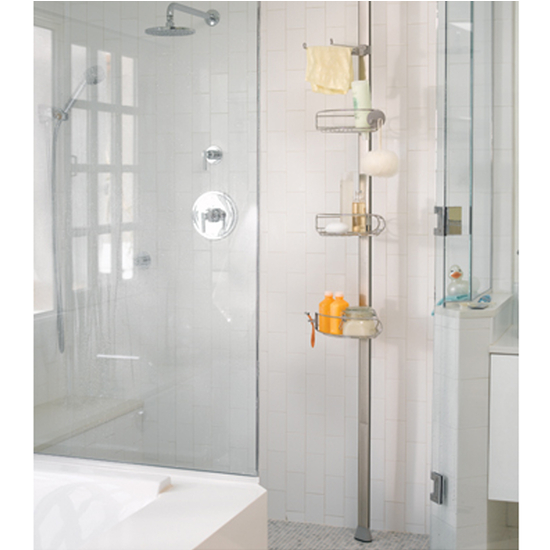 Mainstays 4 Tier Tub And Shower Tension Pole Caddy White. Awesome tension shower pole caddy   Shower biji us