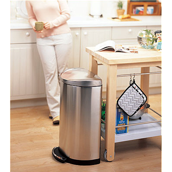 Simplehuman Stainless Steel Deluxe Semiround Step Can