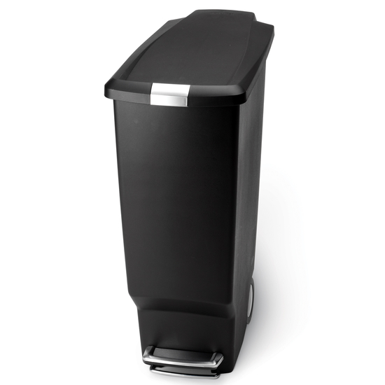 Trash Cans Slim Plastic 10 5 Gallon Step Can With