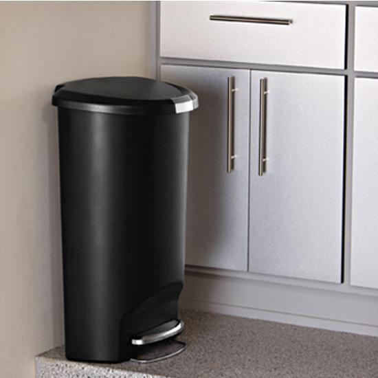 simplehuman® Semiround Plastic Can, 13 Gallon (50L)