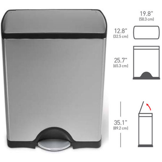 Simplehuman Deluxe Rectangular Step Can