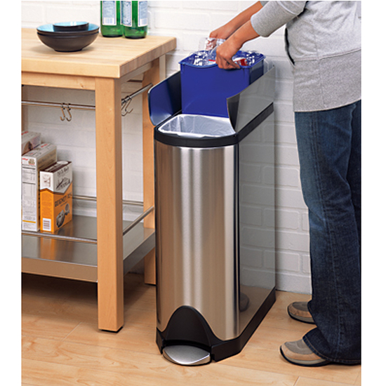 Simplehuman Recycle Butterfly Step Can