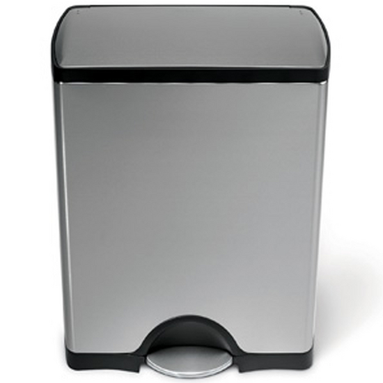 Simplehuman - 8 Gal. Fingerprint-Proof Rectangular Step Can