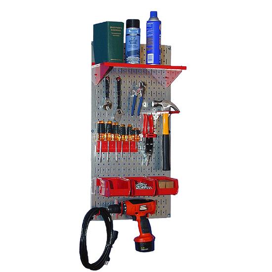 Simply Organized Galvanized Metal Pegboard Utility Tool Storage Kit