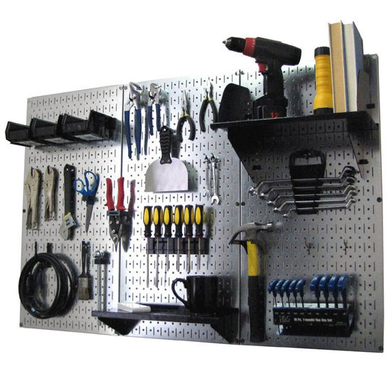 Simply Organized 3-Panel Standard Metal Pegboard Workbench Kit