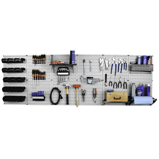 Simply Organized Master Metal Pegboard Workbench Kit