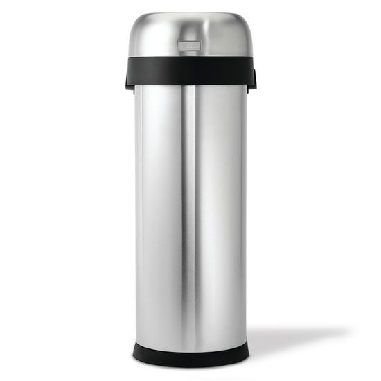 simplehuman ® Slim Open Can, Brushed Stainless Steel, 13 Gallon (50L)