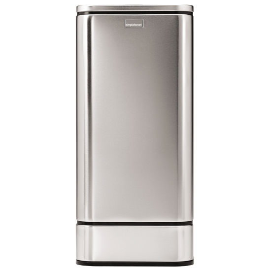 simplehuman Butterfly Sensor Trash Can, Fingerprint-Proof Brushed Stainless Steel, 12.6 Gallon (48L)